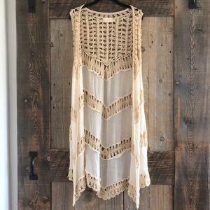 Dreamers sheer/knit tank style cardigan 💖